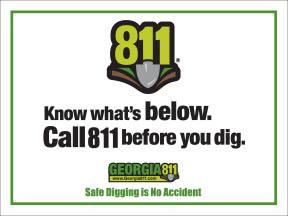 GA811 Yard Sign