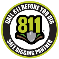 Safe Digging Partner Decal - 2.5