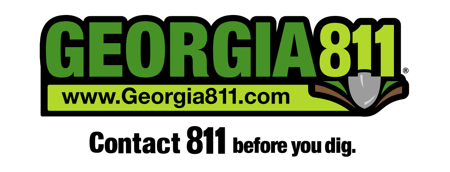 Georgia 811 Logo with tag lines: